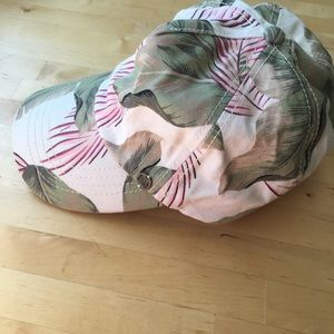 Billabong tropical floral print baseball cap